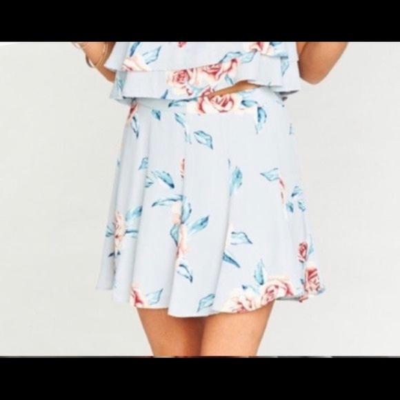 Show me your mumu skater floral skirt